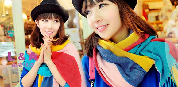 南秀丝语NANXIUSIYU 时尚自主浪漫的围巾