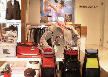 耐克高尔夫店铺展示