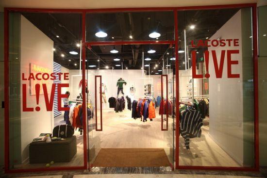 Lacoste L!ve店铺展示