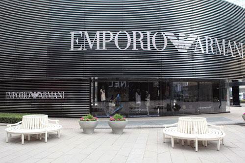安普里奥·阿玛尼店铺展示