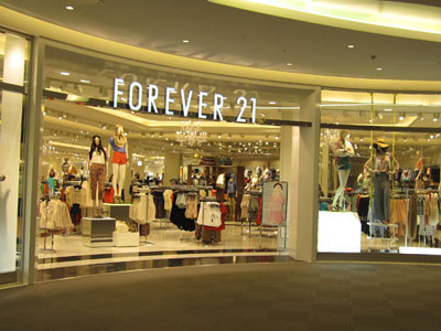 Forever21 店铺展示