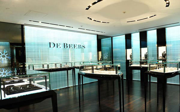 戴比尔斯钻石店铺展示