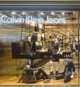 Calvin Klein Jean店铺展示