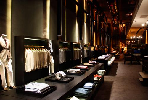 蓝豹洋服店铺展示