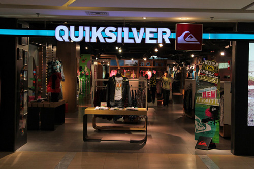 Quiksilver店铺展示