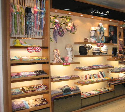 【实图】中立围巾丝巾店面形象设计