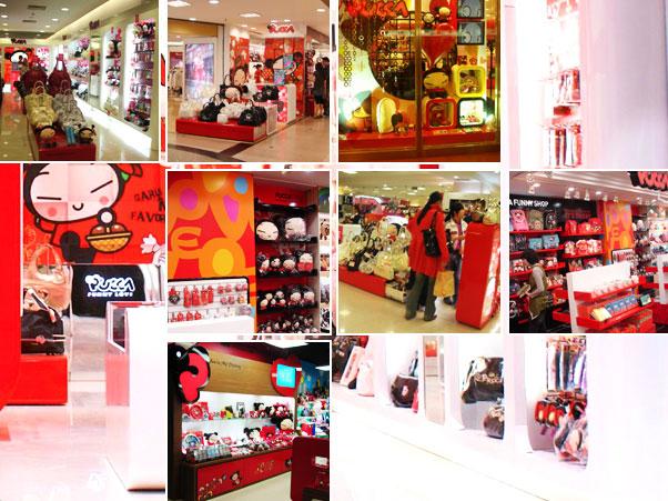 中国娃娃店铺展示