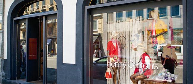 Henry Cottons店铺形象