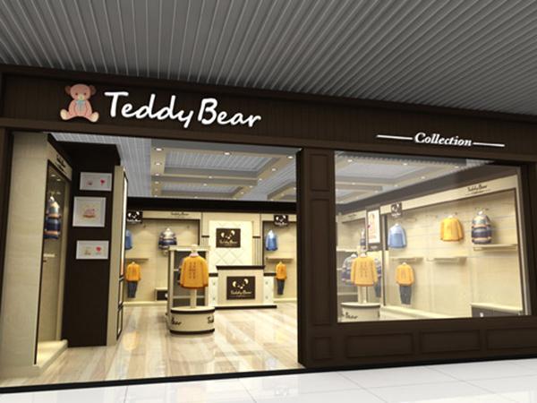 泰迪熊店铺展示