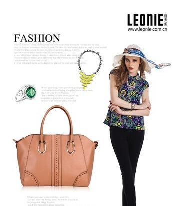 丽天妮不同颜色包包的时尚亮眼搭配
