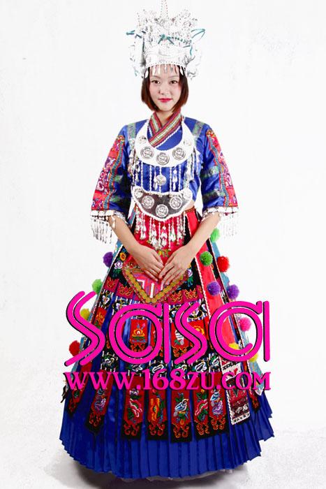 苗族舞蹈服装傣族民族服装租赁彝族舞蹈服装