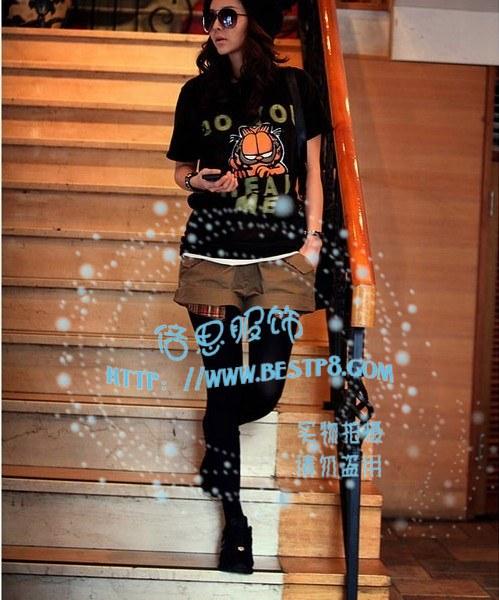 2012广州最畅销的T恤款式李孝利长款韩版女装T恤批发