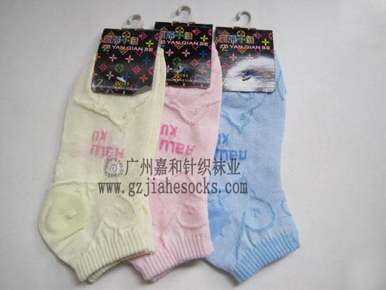 潮流时尚短袜子,时尚提花短袜,女士热销单口筒袜,日韩正品袜子