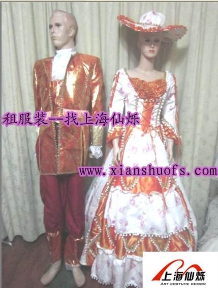 上海朝鲜服装租赁 欧式公主王子服装租赁 高档西装