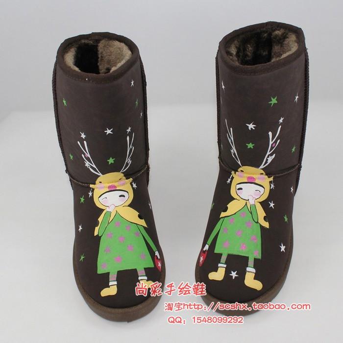 廣西,南寧手繪雪地靴批發,20雙小額批發