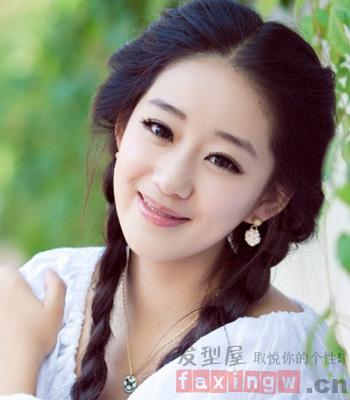 刘海发型扎法 打造更加清新动人的女生