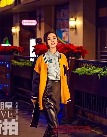 赵丽颖寒冬时尚街拍 百变造型可爱灵动