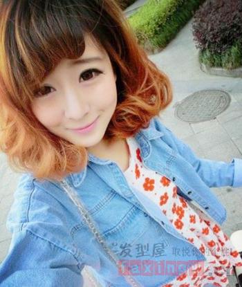 2014韩式中短发烫发发型 时尚娇俏v脸必备