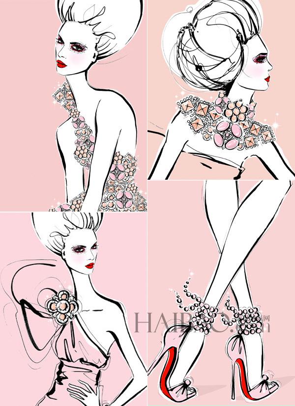 国际时装画家megan hess的插画作品