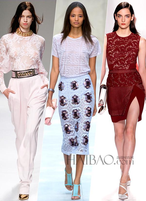 2014春夏流行趋势之蕾丝服饰 轻盈日装面料 高清图片