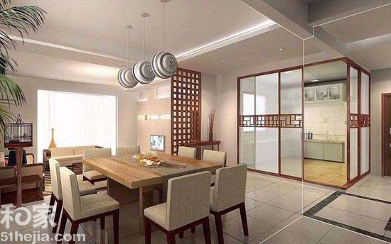 正当时 新中式餐厅巧设计第四页 新中式 餐厅装修 长信宫灯 吊灯 雕花