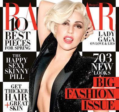 Lady Gaga登美国版《时尚芭莎》封面