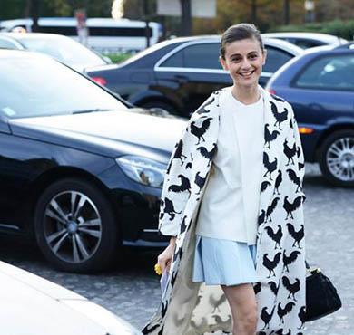 一日一look 甜萌女郎就穿谐趣动物图案外套