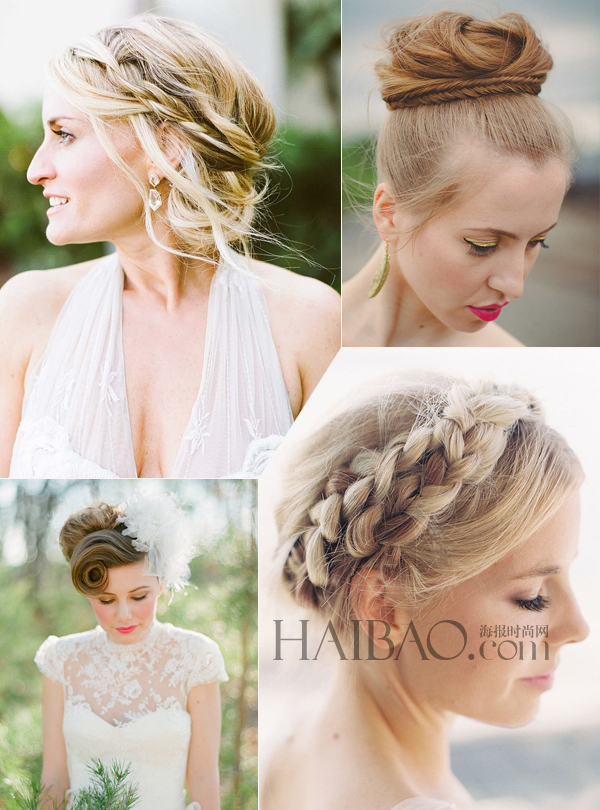 柔和的卷发,浪漫的发髻,可爱的盘发都是婚礼上的经典新娘发型,但是