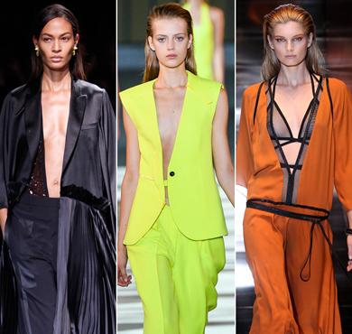 2014春夏流行单品之深V设计时装