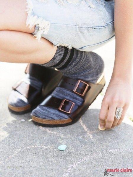 90年代的皮凉鞋的流行时代