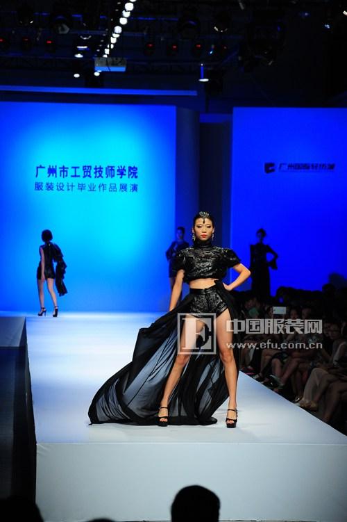广州市工贸技师学院服装设计毕业作品展演 青春光影引领时尚前沿