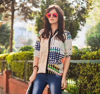 衬衫+牛仔裤 夏季潇洒帅气模式开启