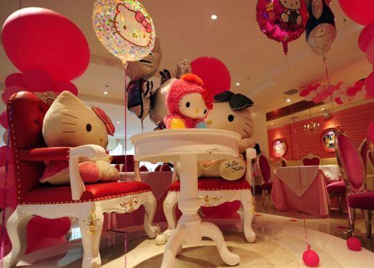 Hello Kitty主题梦幻西餐厅