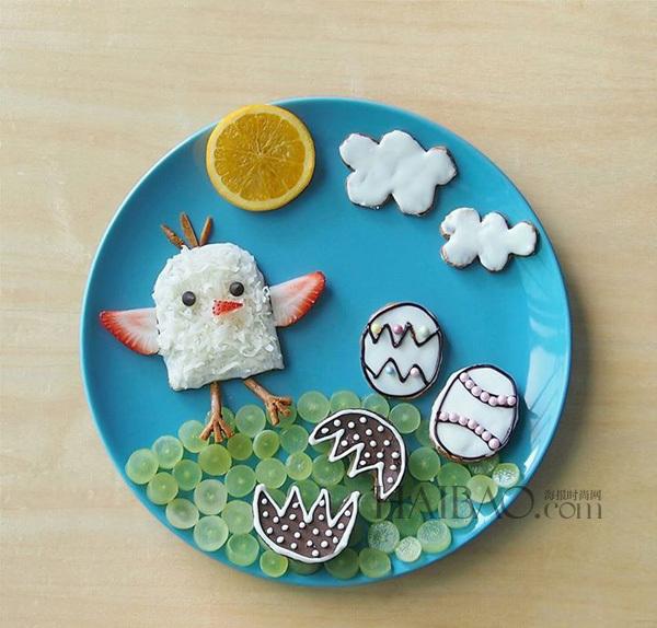 餐盘海绵纸拼贴画