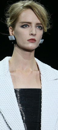 Giorgio Armani Prive2014秋冬高级定制秀场细节:红与黑的迷幻