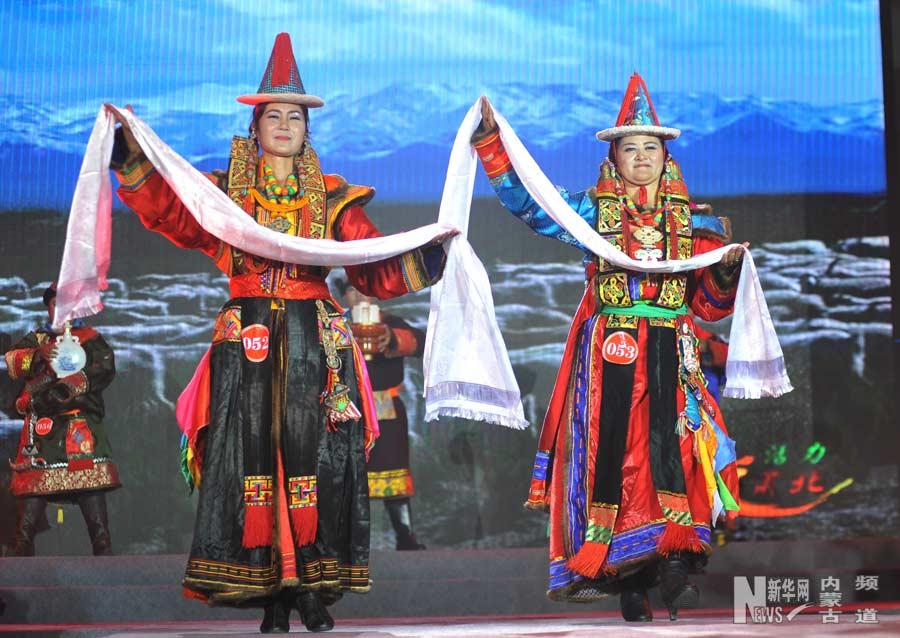 内蒙古举办八省区第二届蒙古族服饰大赛