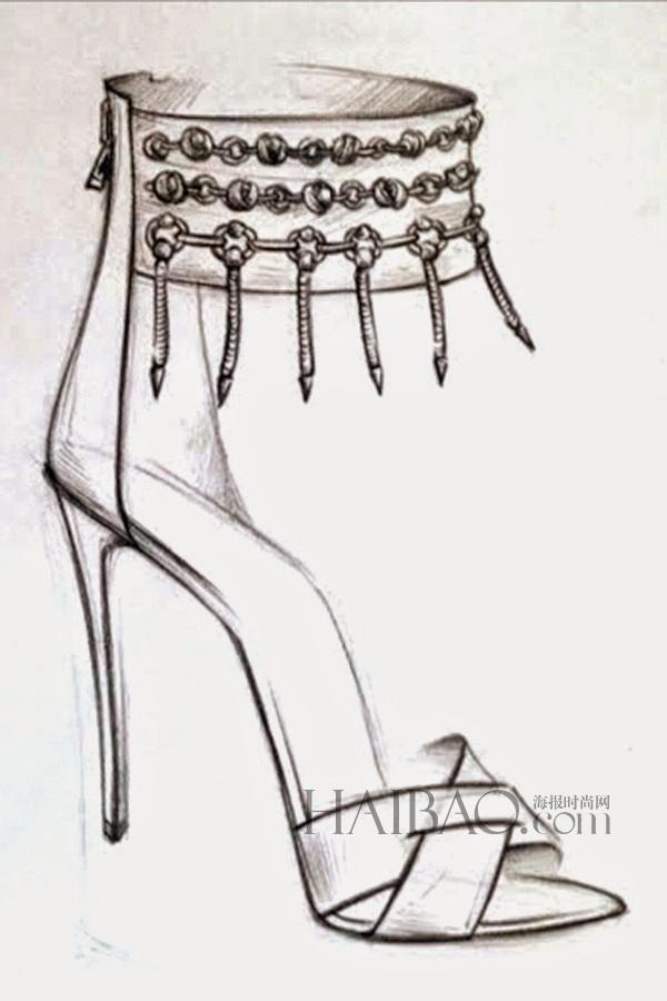 dannijo鞋履设计手稿图片