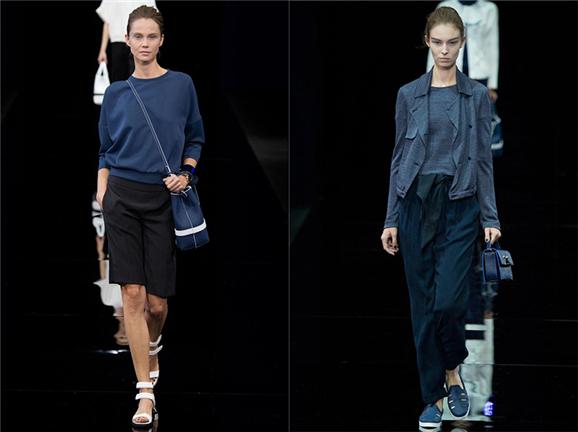 乔治·阿玛尼18日在米兰时装周现场发布了最新2015春夏时装