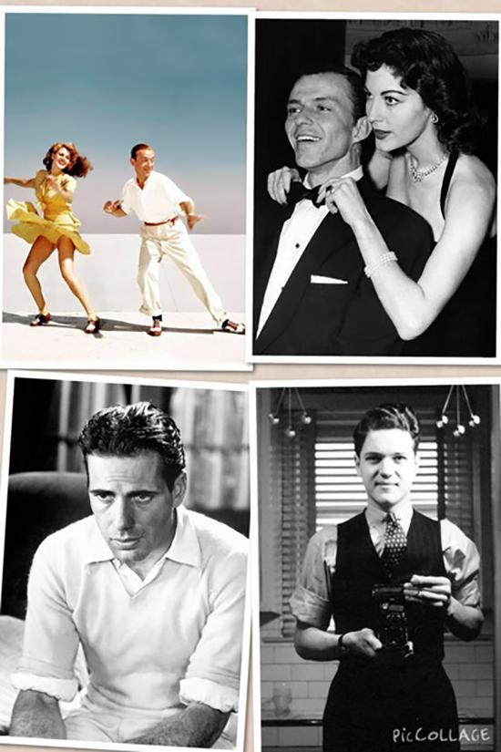 40年代的时尚Icon:舞蹈家FRED ASTAIRE, 爵士乐歌手FRANK SINATRA,演员HUMPHREY BOGART