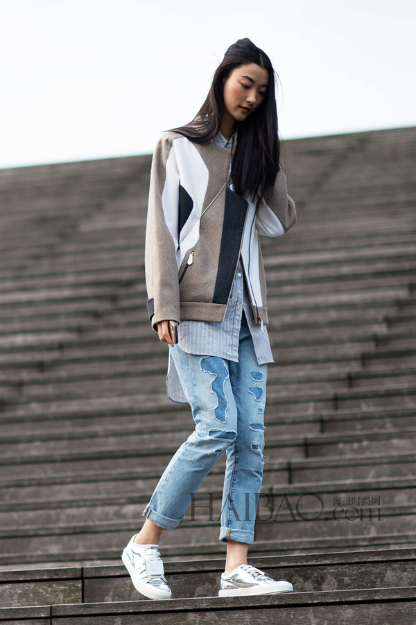 时尚资讯 搭配 2015春夏巴黎时装周模特街拍之压轴篇     韩国模特朴