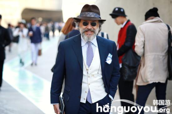韩国首尔时装周场外帅哥靓女实拍