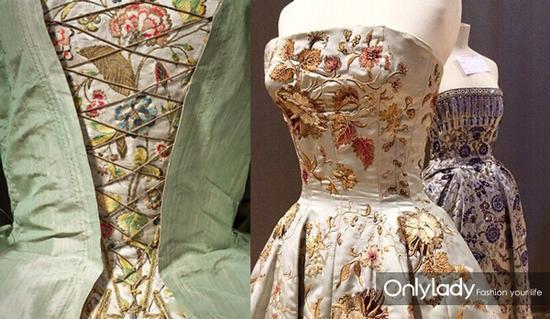 dior 刺绣晚礼服