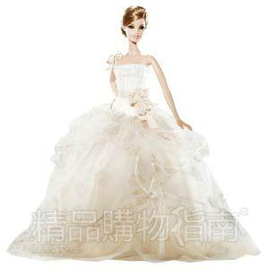 vera wang为芭比设计的高级定制婚纱.图片