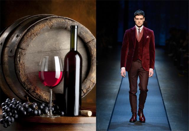 """穿酒紅色服裝的的男人 如紅酒般""""飄香"""""""