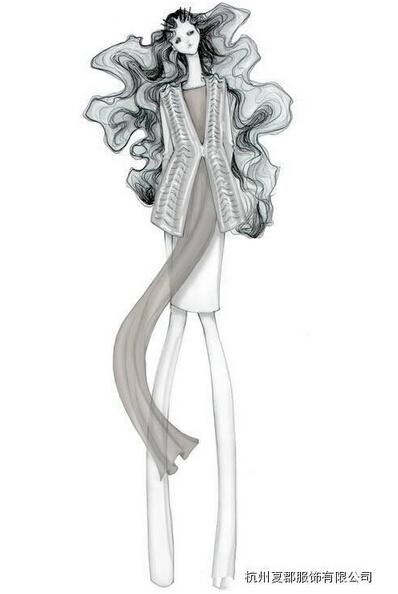 服装黑白款式设计图展示