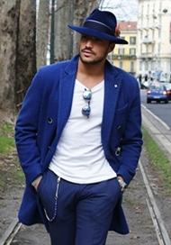 时尚达人在米兰男装周