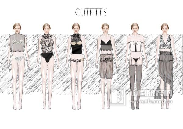 """第三届""""魅力东方""""中国国际内衣创意设计大赛入围选手效果图图片"""