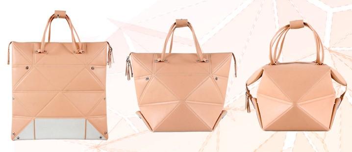 一个包包n种场合   15春夏ep雅莹的折纸包以摩登波普的菱形格纹