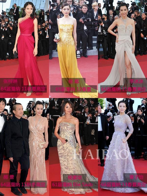 华语女明星戛纳电影节Elie Saab Look
