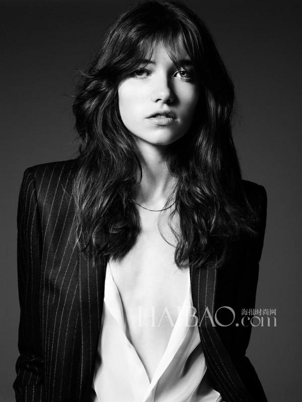 模特Grace Hartzel演绎圣罗兰 (Saint Laurent) 2014秋冬女装广告大片